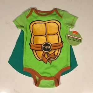 T.M.N.T. Onesie with Removable Cape